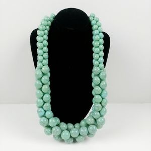 """Chunky turquoise bead short necklace 18"""""""